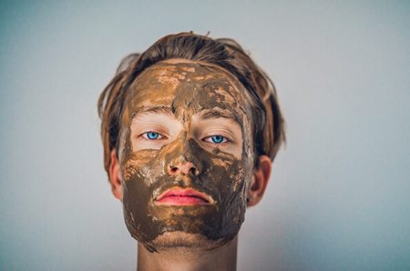natural face mask made with Diatomaceous Earth
