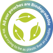 Biodegradable badge
