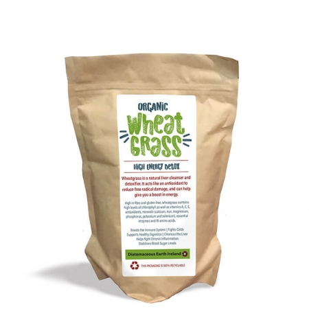 bag of wheatgrass powder