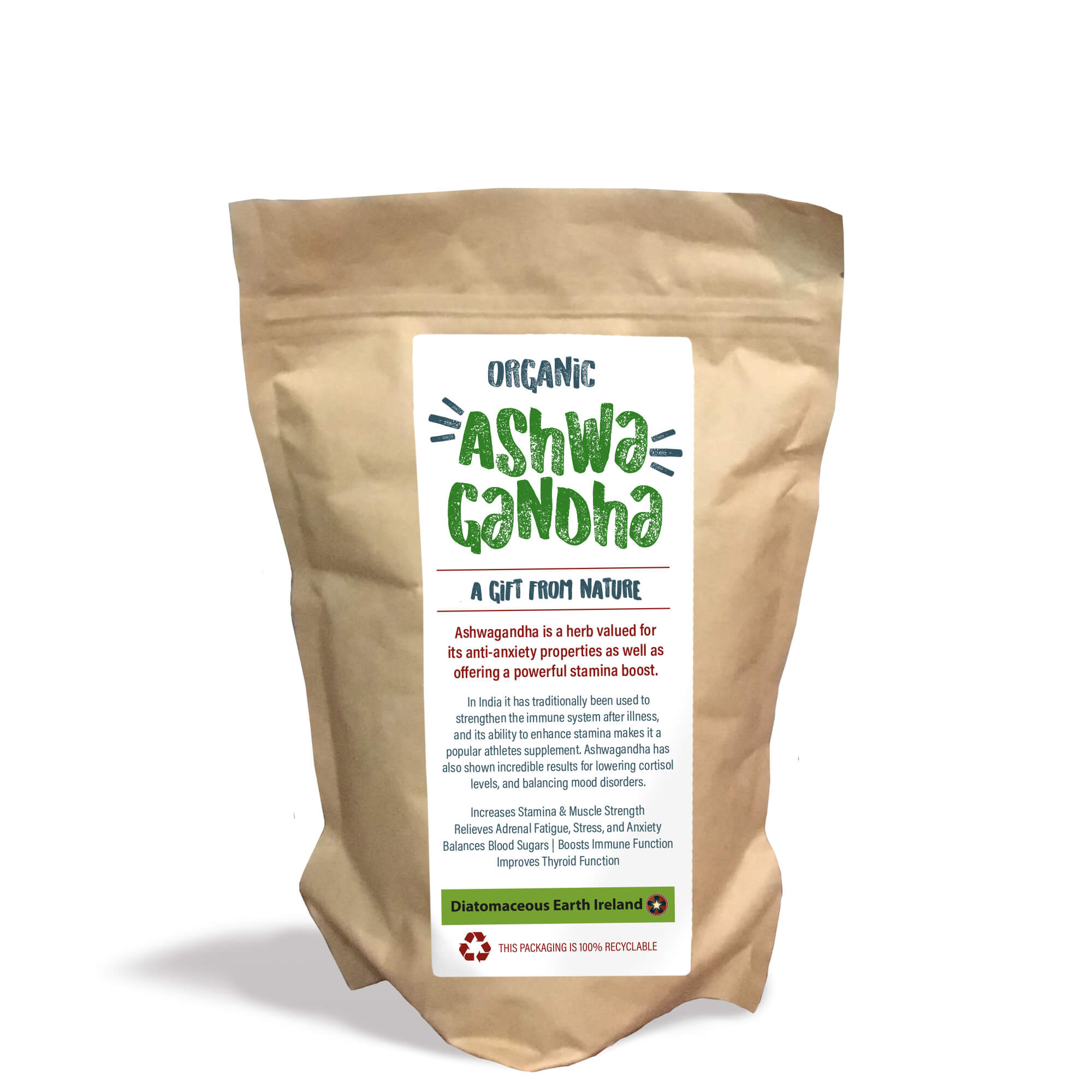 bag of ashwagandha herb